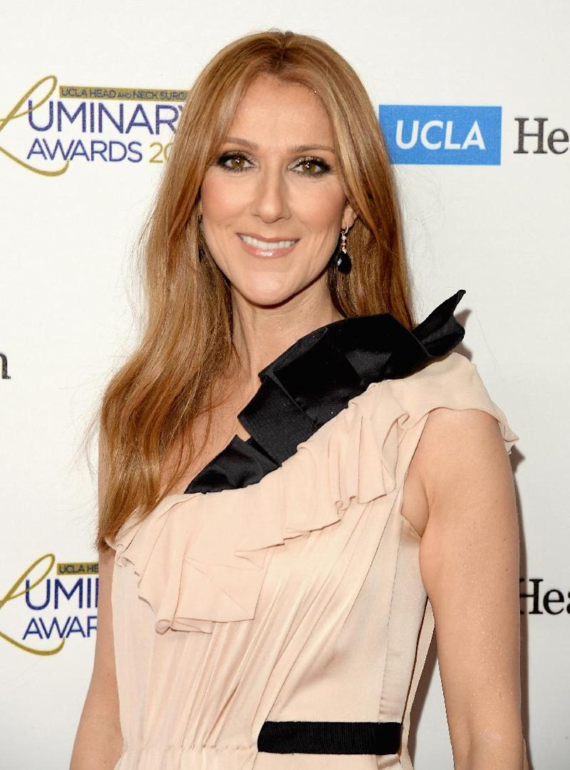 Celine Dion, pictured on January 22, 2014 in Beverly Hills, California