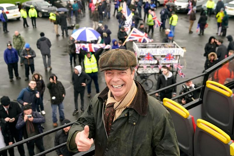 Nigel Farage at the launch of the so-called Brexit 'betrayal' march in Sunderland (Getty Images)