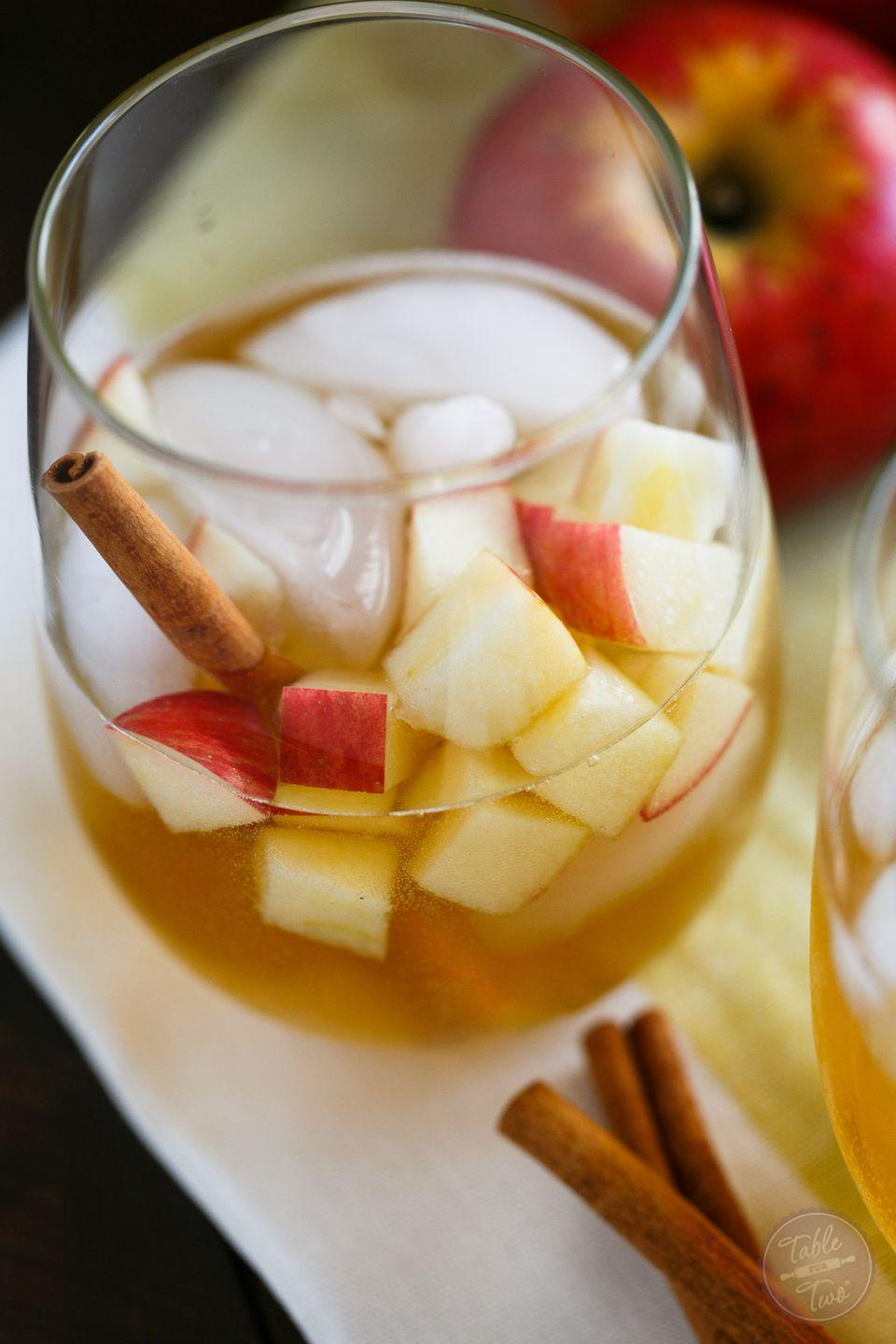 """<p>Make enough of this fantastic cinnamon-pear simple syrup to add to more fall cocktails in the future.</p><p><strong>Get the recipe at <a href=""""https://www.tablefortwoblog.com/cinnamon-pear-fall-cider/"""" rel=""""nofollow noopener"""" target=""""_blank"""" data-ylk=""""slk:Table for Two"""" class=""""link rapid-noclick-resp"""">Table for Two</a>.</strong></p><p><a class=""""link rapid-noclick-resp"""" href=""""https://go.redirectingat.com?id=74968X1596630&url=https%3A%2F%2Fwww.walmart.com%2Fip%2FChef-Craft-E-Z-Out-Ice-Cube-Tray%2F633343435&sref=https%3A%2F%2Fwww.thepioneerwoman.com%2Ffood-cooking%2Fmeals-menus%2Fg33510531%2Ffall-cocktail-recipes%2F"""" rel=""""nofollow noopener"""" target=""""_blank"""" data-ylk=""""slk:SHOP ICE CUBE TRAYS"""">SHOP ICE CUBE TRAYS</a> </p>"""