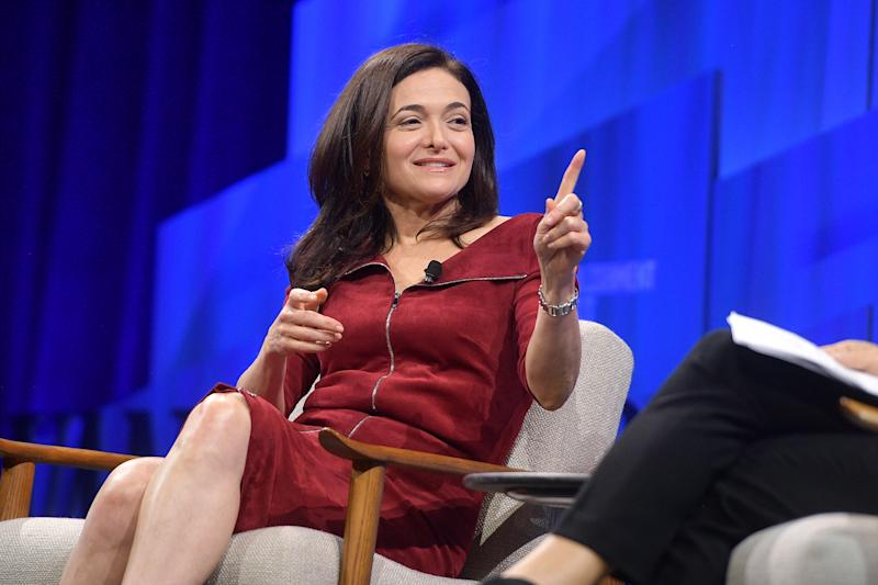 BEVERLY HILLS, CALIFORNIA - OCTOBER 22: Sheryl Sandberg, COO of Facebook speaks onstage during 'Putting a Best Facebook Forward' at Vanity Fair's 6th Annual New Establishment Summit at Wallis Annenberg Center for the Performing Arts on October 22, 2019 in Beverly Hills, California. (Photo by Matt Winkelmeyer/Getty Images for Vanity Fair)