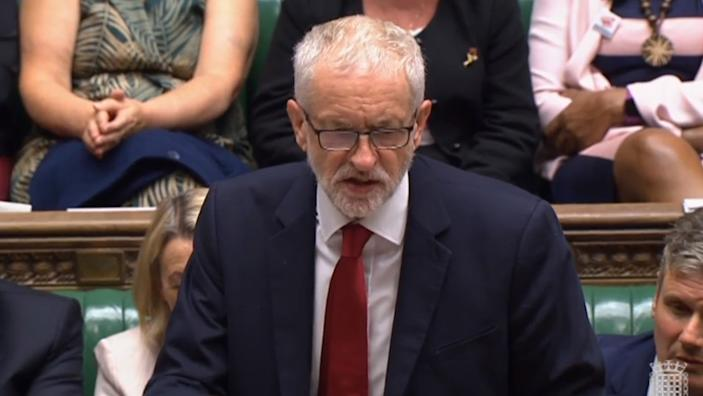 Jeremy Corbyn said Labour would not back a general election until no deal had been taken off the table (PA Images)