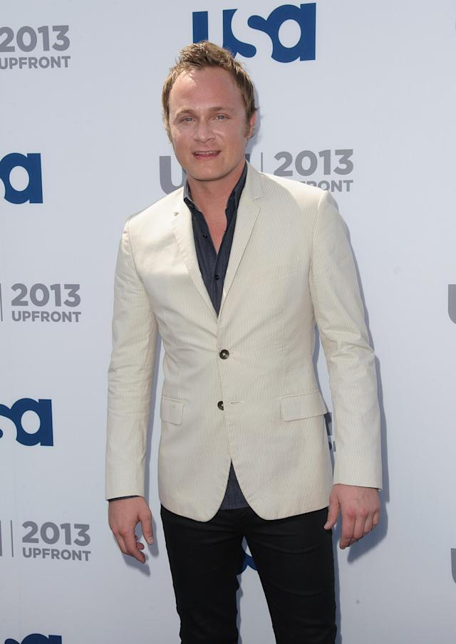 NEW YORK, NY - MAY 16: David Anders attends USA Network 2013 Upfront Event at Pier 36 on May 16, 2013 in New York City. (Photo by Dave Kotinsky/Getty Images)