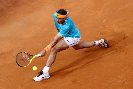 FILE PH)OTO: Tennis - ATP 1000 - Italian Open - Foro Italico, Rome, Italy - May 19, 2019 Spain's Rafael Nadal in action during the final against Serbia's Novak Djokovic REUTERS/Matteo Ciambelli