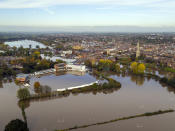 Heavy rain hit Britain over the weekend leaving whole towns under water. (SWNS)