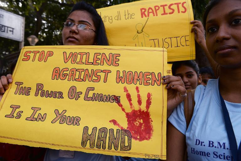 The December 2012 gang-rape and murder of a young physiotherapy student highlighted the frightening level of violence against women in India and led to a major reform of the country's rape laws (AFP Photo/Indranil Mukherjee)
