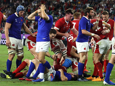 Rugby World Cup 2019: Ross Moriartey leaves it late to guide Wales to semi-final with thrilling win over 14-man France