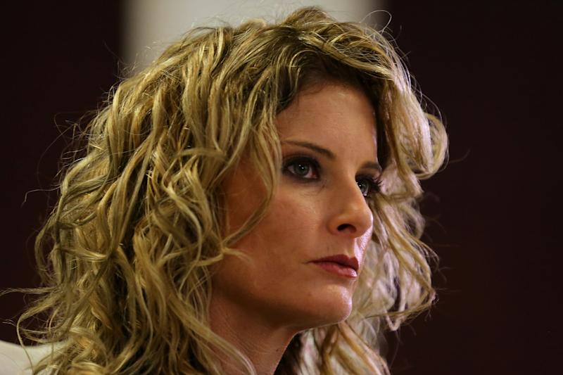 """Summer Zervos, a former contestant on """"The Apprentice,"""" is suing President Donald Trump for defamation after he denied groping her without consent."""