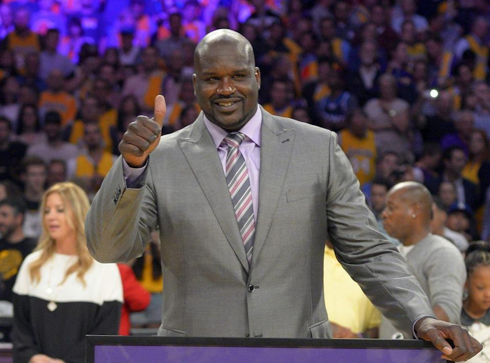 Shaquille O'Neal gives the flat-Earth theory his seal of approval. (AP)