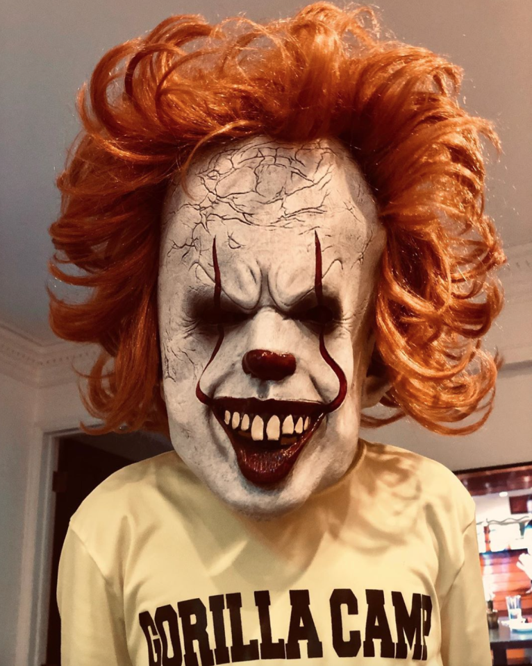 "We can only imagine that Madden has been walking around in this Pennywise mask, terrorizing <a href=""https://people.com/music/joel-madden-40th-birthday-nicole-richie-wishes/"">his wife, Nicole Richie</a>."