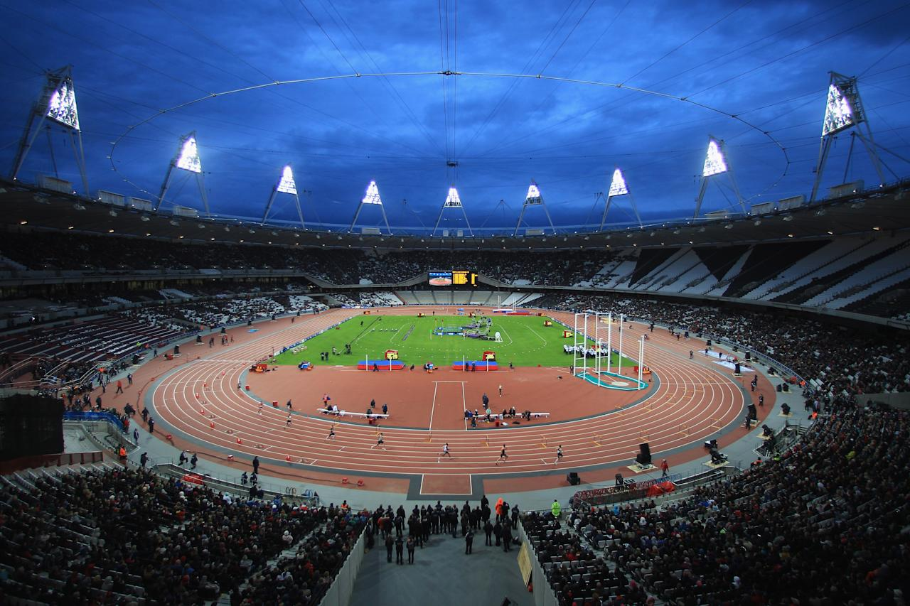 LONDON, ENGLAND - MAY 05: General view of the Olympic Stadium during day two of the BUCS VISA Athletics Championships 2012 LOCOG Test Event for London 2012 at the Olympic Stadium on May 5, 2012 in London, England.  (Photo by Michael Steele/Getty Images)