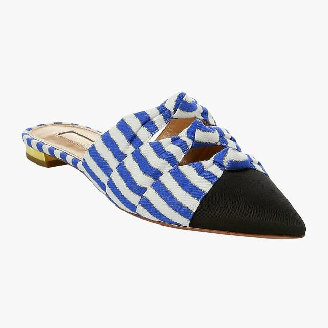 Aquazzura knotted point-toe mules, $650, saks.com
