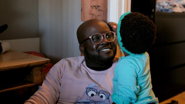 """Glen Henry and his daughter in the documentary """"Dads."""" <span class=""""copyright"""">(Apple TV+)</span>"""