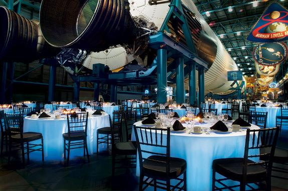 Guests at the ShareSpace Foundation launch gala will dine under the Saturn V rocket at NASA's Kennedy Space Center in Florida.