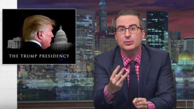 "John Oliver closed out the fourth season of ""Last Week Tonight"" by examining the dangerous ways in which President Donald Trump has reestablished norms in American politics."