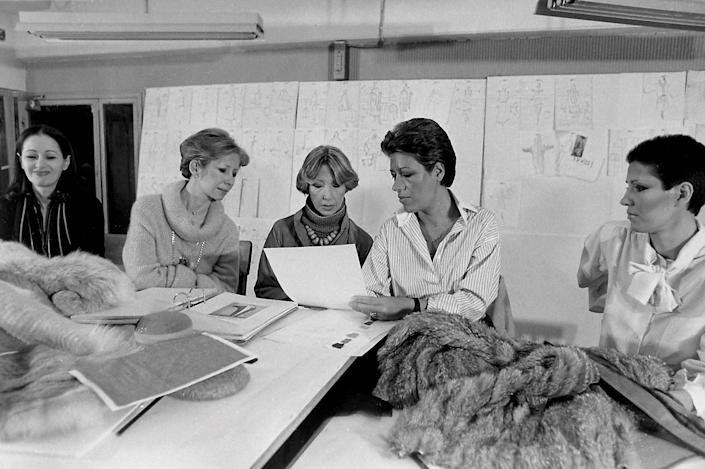"""<h1 class=""""title"""">1977 Fendi sisters Alda. Paola. Franca. Carla and in their Atelier</h1><cite class=""""credit"""">Photo: Getty Images</cite>"""