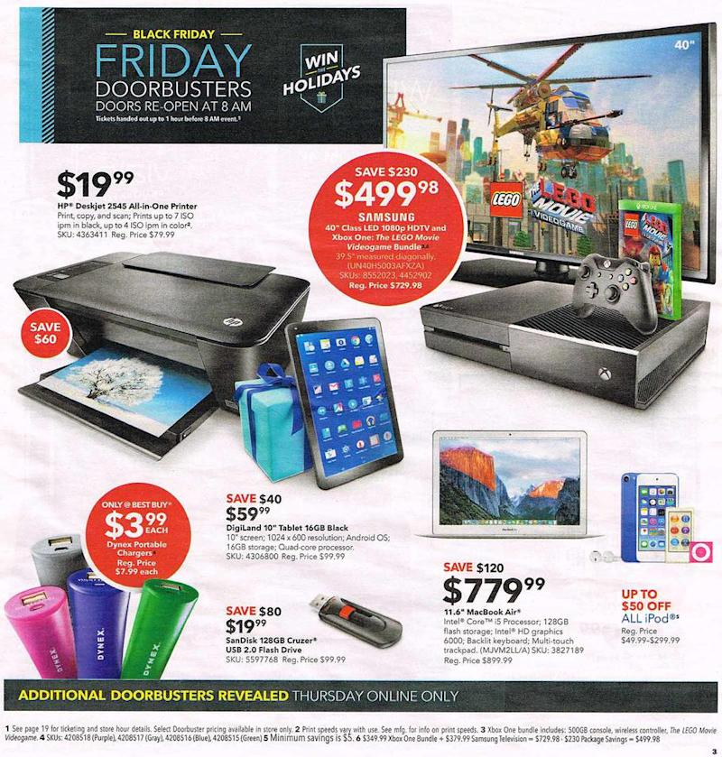 best buy black friday 2015 full printed ad - Best Buy Christmas Hours