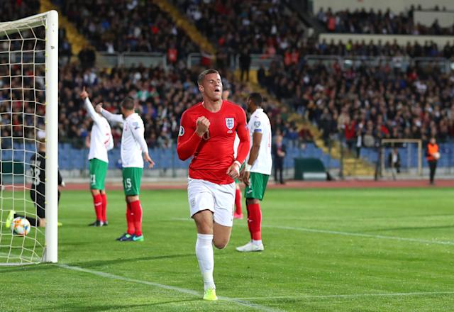 Barkley put England 2-0 up in Sofia. (Photo by Catherine Ivill/Getty Images)
