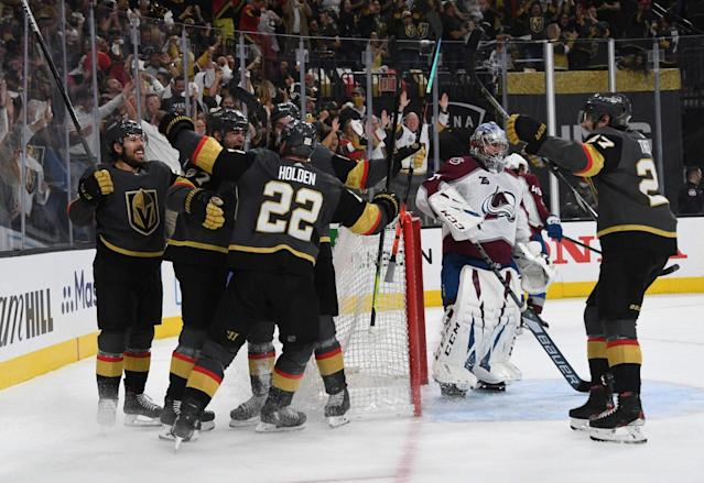 Golden Knights stun Avalanche with late Game 3 comeback
