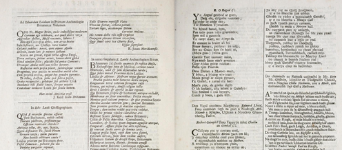 """<span class=""""caption"""">Poetry in Latin, Welsh and Gaelic from Edward Lhwyd's Archaeologia Britannica</span> <span class=""""attribution""""><a class=""""link rapid-noclick-resp"""" href=""""https://archive.org/details/archaeologiabrit00lhuy/page/n15/mode/2up"""" rel=""""nofollow noopener"""" target=""""_blank"""" data-ylk=""""slk:National Library of Scotland"""">National Library of Scotland</a>, <a class=""""link rapid-noclick-resp"""" href=""""http://creativecommons.org/licenses/by-sa/4.0/"""" rel=""""nofollow noopener"""" target=""""_blank"""" data-ylk=""""slk:CC BY-SA"""">CC BY-SA</a></span>"""