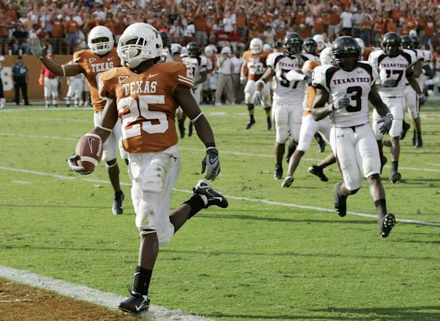 The Texas-Texas Tech rivalry was mentioned during a congressional hearing. (AP Photo/Eric Gay)