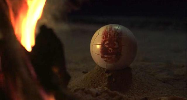 Tom Hanks' Chuck finds friendship in the shape of a volleyball called Wilson in <em>Cast Away</em>. (20th Century Fox/DreamWorks)