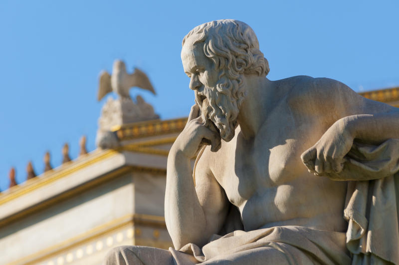 A statue of Aristotle