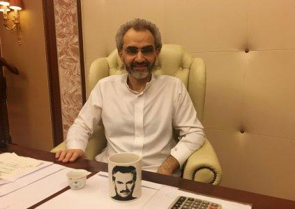 FILE PHOTO: Saudi Arabian billionaire Prince Alwaleed bin Talal sits for an interview with Reuters in the office of the suite where he has been detained at the Ritz-Carlton in Riyadh, Saudi Arabia January 27, 2018. REUTERS/Katie Paul/File Photo
