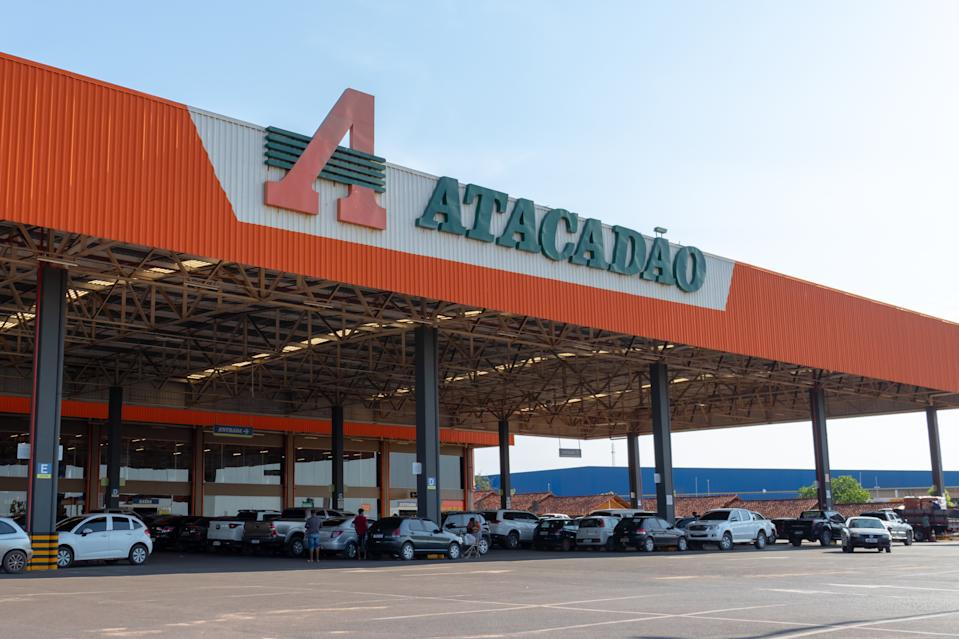 "Santarem/Para/Brazil - Sep 29, 2020: Unit of the ""Atacadão"" (Carrefour group) hypermarket chain in the city of Santarem / PA"