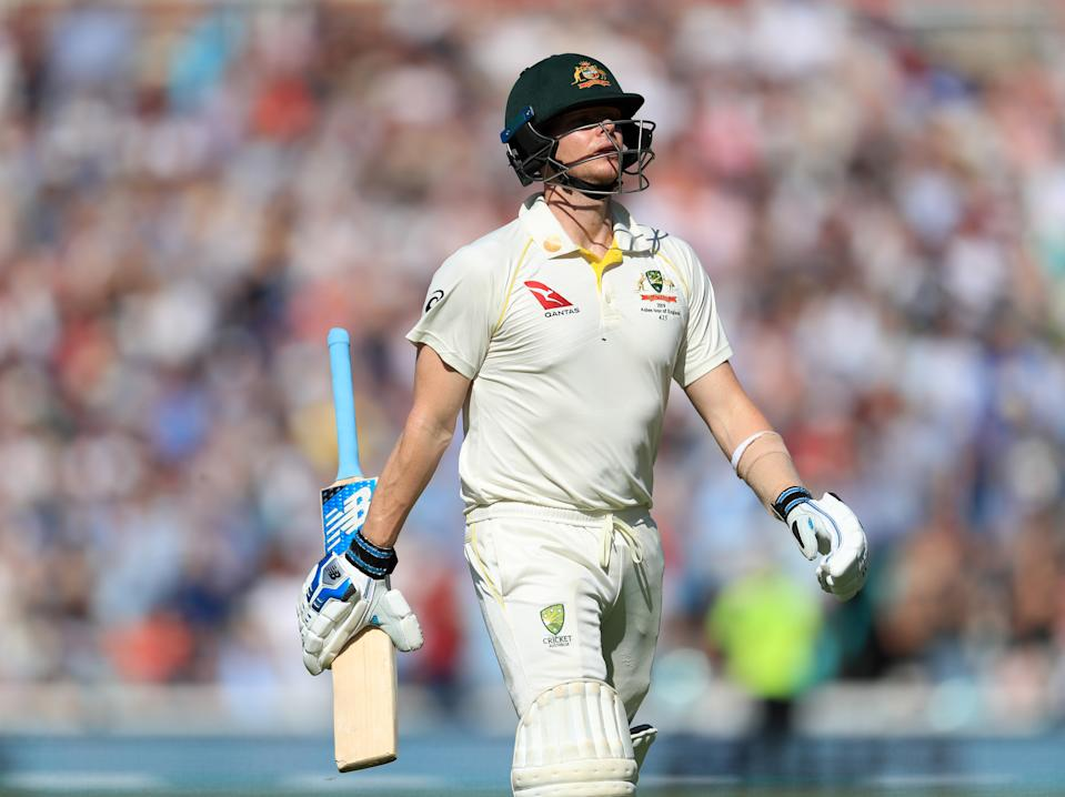 Australia's Steve Smith walks off after being dismissed during day four of the fifth test match at The Kia Oval, London.