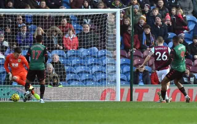 Wesley (right) scores Aston Villa's opener (Anthony Devlin/PA).