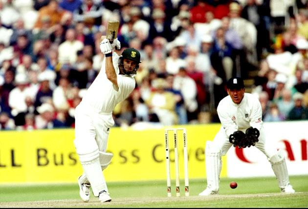 3 Jul 1998:  Gary Kirsten of South Africa in action during the Third Test match against England at Old Trafford in Manchester, England. The match ended in a draw. \ Mandatory Credit: Adrian  Murrell/Allsport