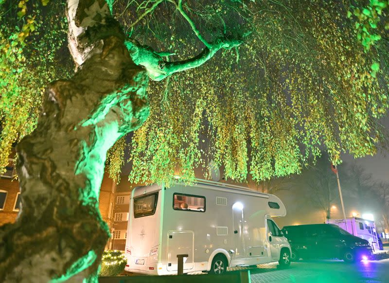 Bettina Seitz, owner of a culinary school, delivers high-class dinners to customers' motorhomes in Neumuenster
