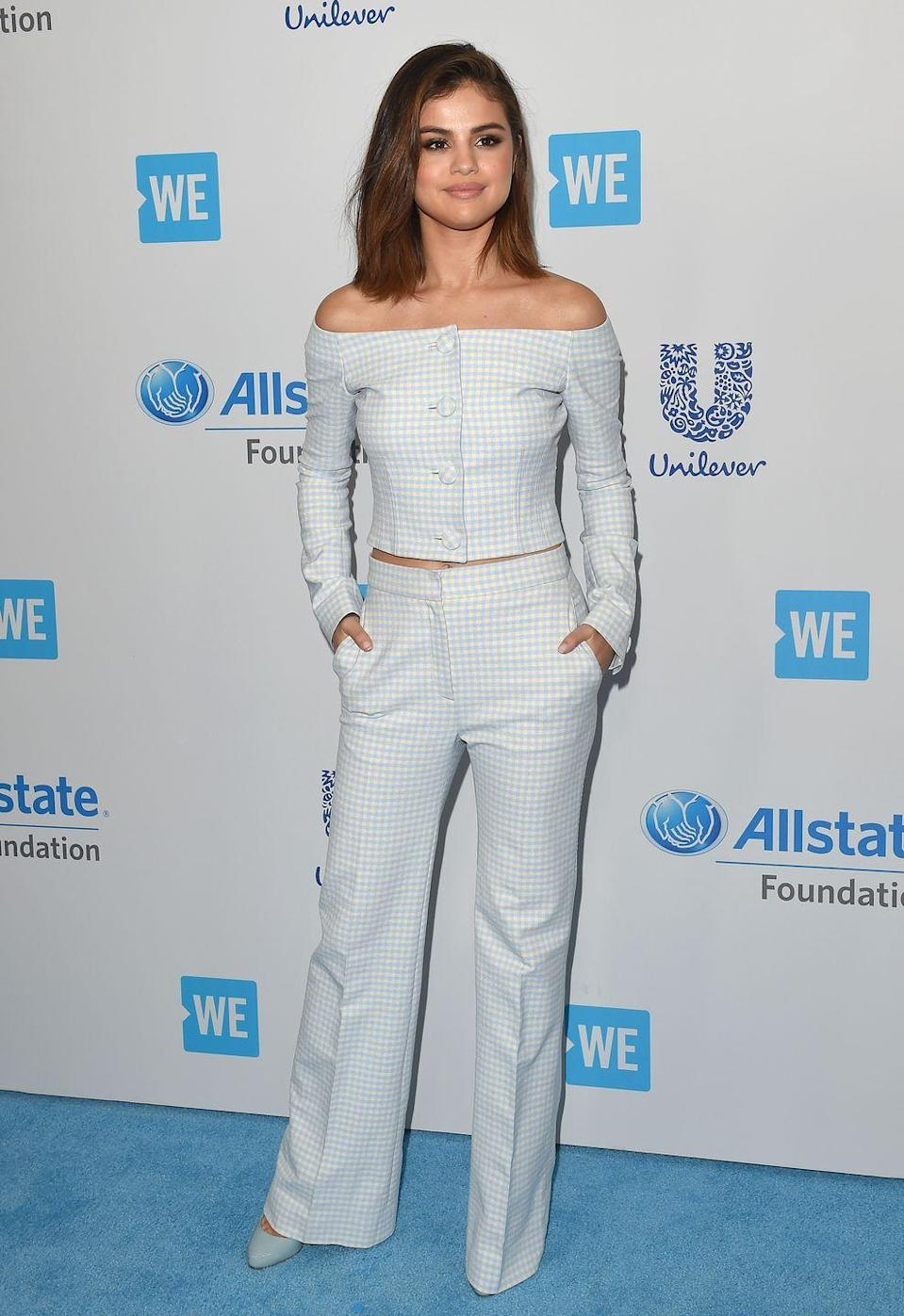 <p>Selena hosted We Day California, demonstrating her commitment to social change. </p>