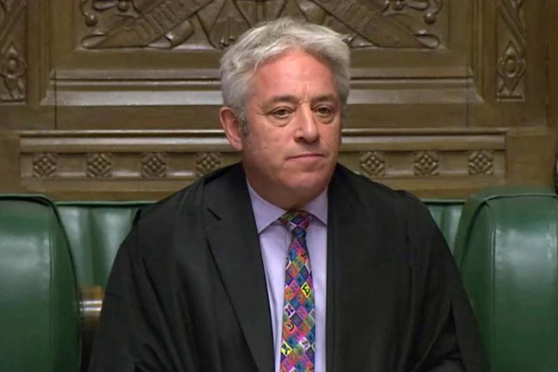 John Bercow rejected the Government's attempt to give MPs a new vote on its Brexit deal: AP