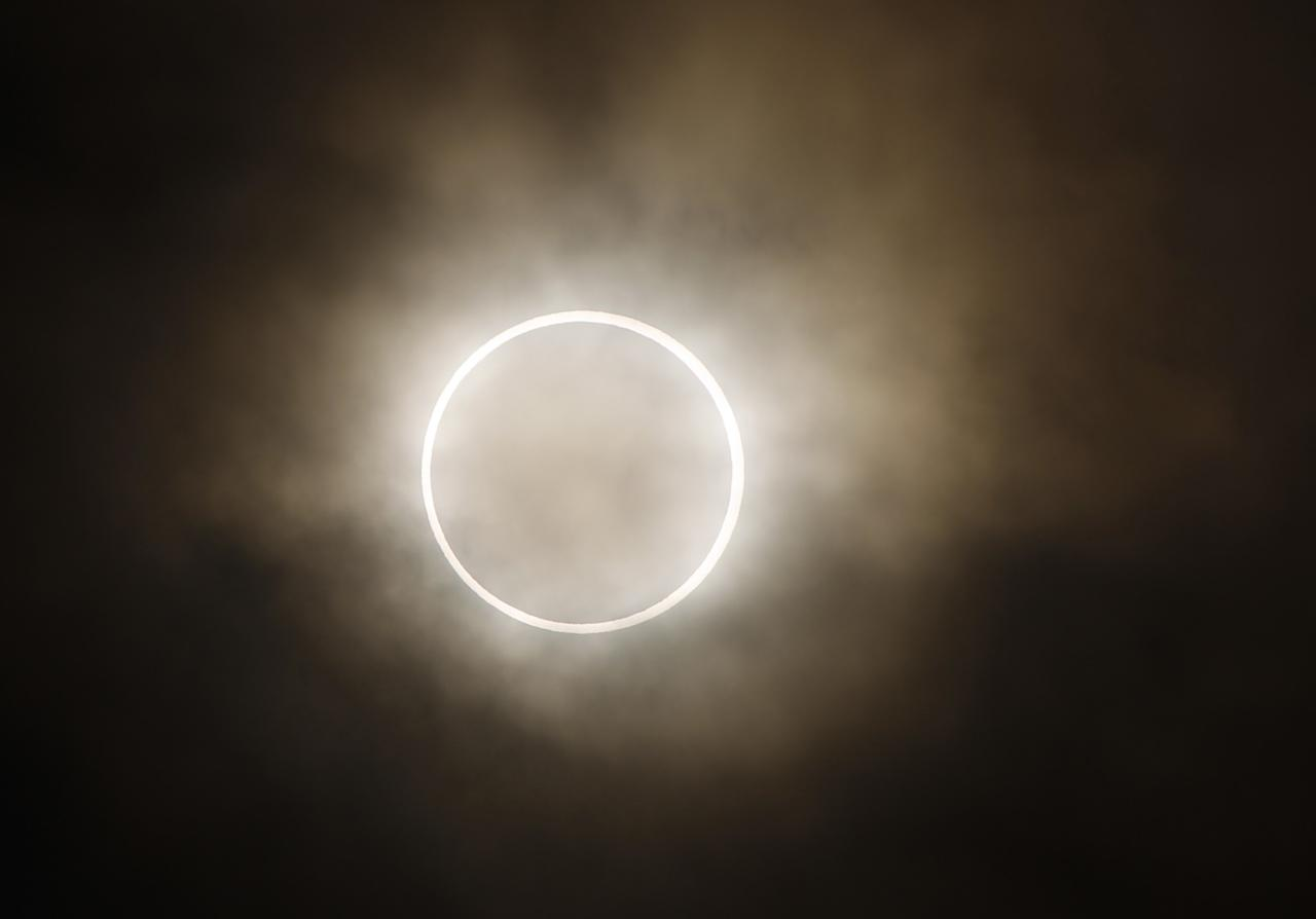 <p>At the end of February, the moon will pass in front of the sun, creating a bizarre halo effect. Unfortunately, this year's eclipse will only be visible over South and West Africa and some of South America. (Shuji Kajiyama/AP/REX/Shutterstock) </p>