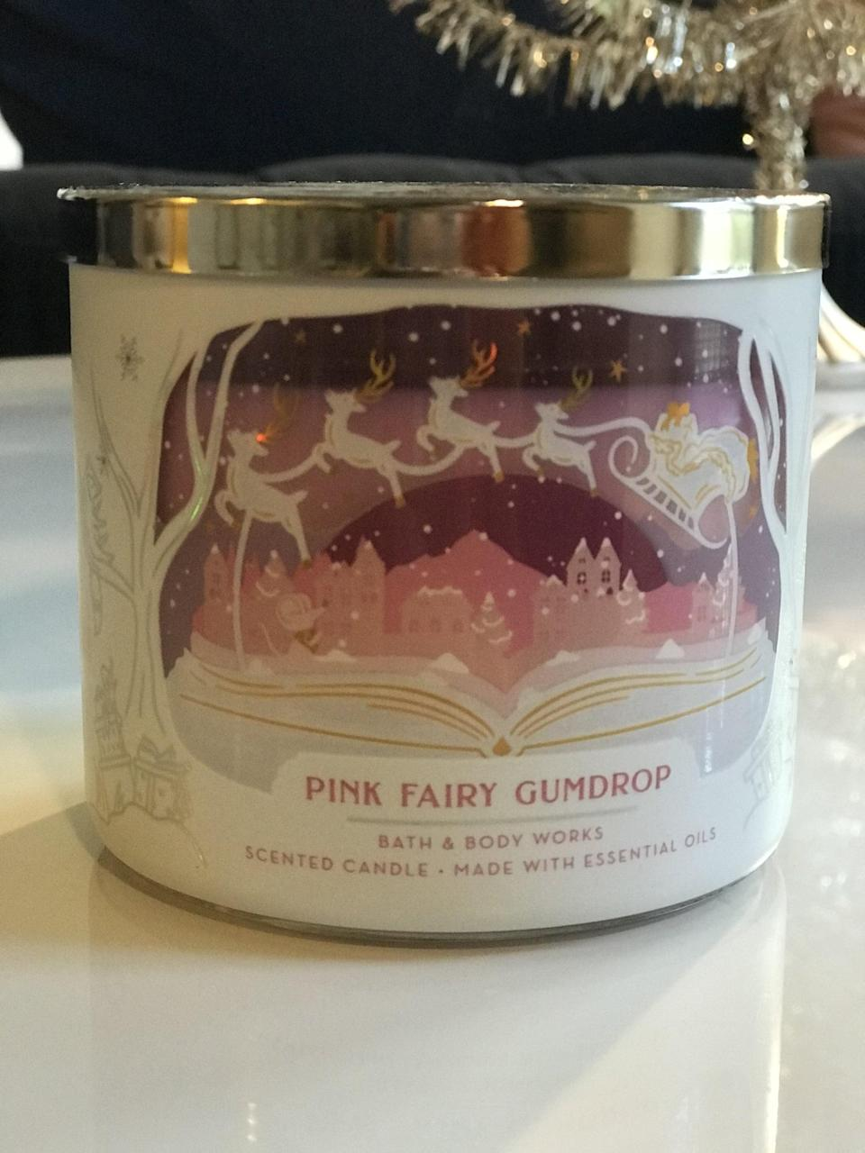 <p><span>Pink Fairy Gumdrop 3-Wick Candle</span> ($15, originally $25)</p> <p><strong>What It Smells Like:</strong> Those crystal gumdrops you stick on a gingerbread house.</p>