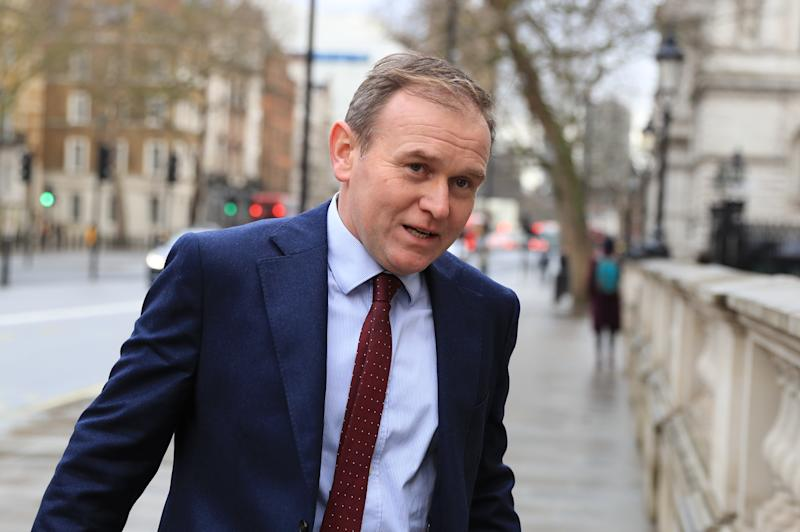 Minister of State at the Department for Environment, Food and Rural Affairs, George Eustice, arriving at the Cabinet Office, London, as Prime Minister Boris Johnson reshuffles his Cabinet.
