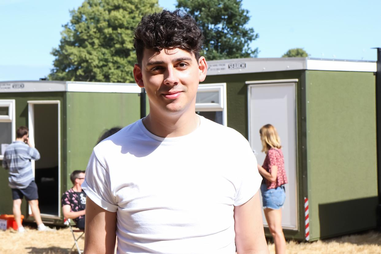 SOUTHWOLD, ENGLAND - JULY 13: Matt Richardson performing in the comedy tent during Lattitude Festival at Henham Park Estate on July 13, 2018 in Southwold, England. (Photo by Carla Speight/WireImage)