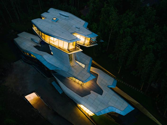 """The Capital Hill Residence is the only private home designed by legendary architect Zaha Hadid, who died in 2016. <p class=""""copyright"""">OKO Group</p>"""
