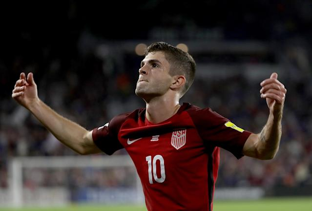 "<a class=""link rapid-noclick-resp"" href=""/soccer/players/christian-pulisic/"" data-ylk=""slk:Christian Pulisic"">Christian Pulisic</a> knew he had to play through the rough CONCACAF tactics and continue to shine. (Getty)"