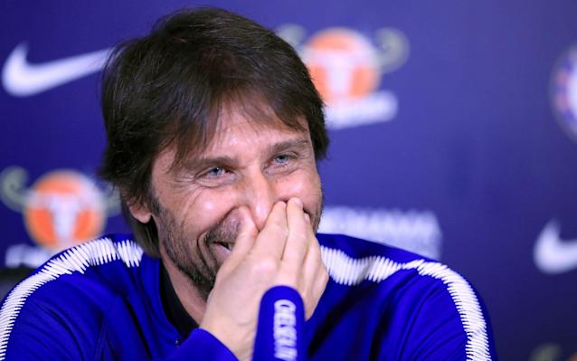 "Chelsea manager Antonio Conte hasn't had too much to smile about at Stamford Bridge in recent weeks with the club fighting to land a Champions League spot this season. The ongoing speculation over his future in west London and talk of who is likely to succeed him is unlikely to have helped his mood either. But for a brief moment during his press conference this afternoon, the Italian couldn't keep the smile off his face. Conte was speaking to reporters ahead of tomorrow night's Premier League clash with Burnley when his phone began to ring in his pocket. Looking at the screen, he admitted the caller was his wife and apologised for the interruption. Antonio Conte's wife interrupts his @ChelseaFC press conference with a phone call ���� (�� @HaytersTeamwork) pic.twitter.com/uZoesxgWAP— Dugout (@Dugout) April 18, 2018 ""It was my wife. Always in the worst moment. I'm sorry,"" he said. ""You can give me a fine! I'm sorry because I would be annoyed if it happened to one of you."" Chelsea face an uphill task to qualify for next season's Champions League as they trail fourth-placed Tottenham Hotspur by eight points, even if Mauricio Pochettino's side have played a game more. Conte accepts the odds are stacked against his team but has urged his players to fight for a top-four spot until it's mathematically impossible. Who is your Premier League manager of the year? Our writers have their say ""We have to try until the end to reach this target,"" the Italian manager added. ""If we want to be realistic with five games to go, it's not simple to reduce the gap, but we must have the will to fight, the desire to take this target. Why not? ""We have an important game against Burnley, a really strong team having a fantastic season, and it won't be easy to get three points."""