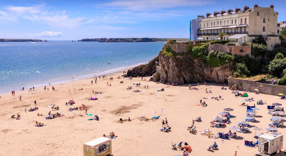 Tenby beach in Wales made the top 10 (Getty)