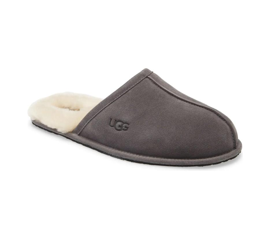 <p>No one can resist these ultra comfy <span>UGG Scuff Slippers</span> ($80).</p>