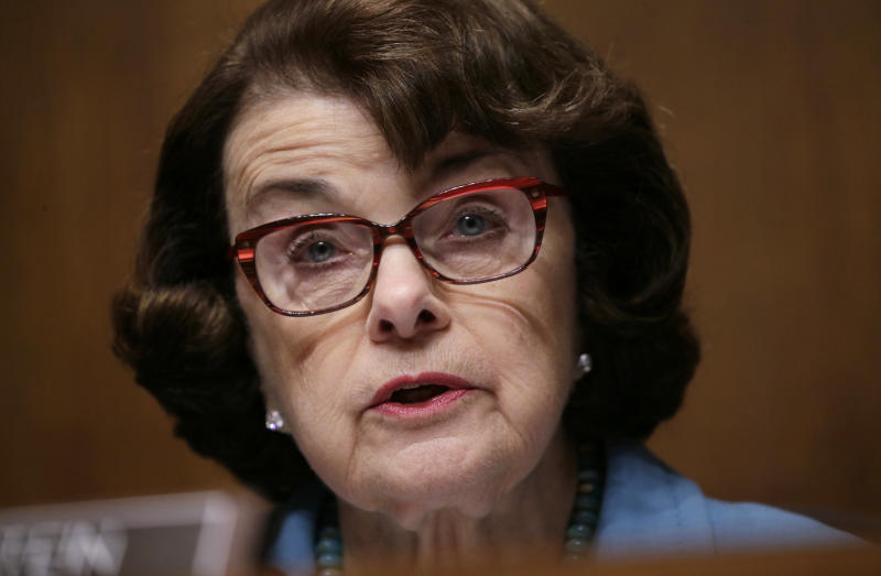 The Senate Judiciary Committee's ranking Democrat, Dianne Feinstein of California, wants Attorney General Jeff Sessions to testify again before the committee about interactions between the Trump campaign and Russian officials. (Kevin Lamarque/Reuters)