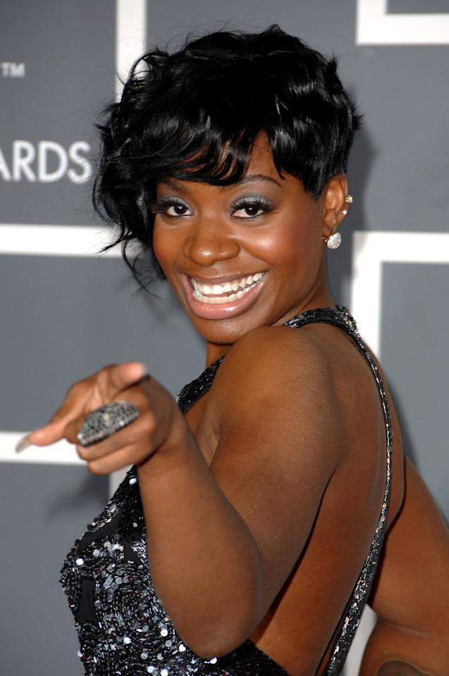"<a href=""/fantasia-barrino/contributor/1254830"">Fantasia Barrino</a> arrives at the 51st Annual Grammy Awards at the Staples Center on February 8, 2009, in Los Angeles."
