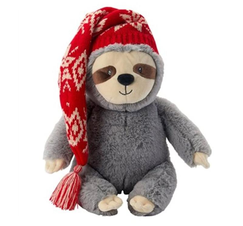 "Come on, just try to tell us this isn't the cutest little holiday sloth you've ever seen. Get it <a href=""https://www.chapters.indigo.ca/en-ca/toys/gund-x-indigo-baby-holiday/778988476475-item.html"" target=""_blank"" rel=""noopener noreferrer"">at Indigo</a> for $19.96."
