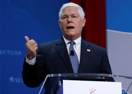 FILE PHOTO - Rep. Pete Sessions (R-TX) speaks at 2017 SelectUSA Investment Summit in Oxon Hill, Maryland, U.S., June 19, 2017.   REUTERS/Joshua Roberts