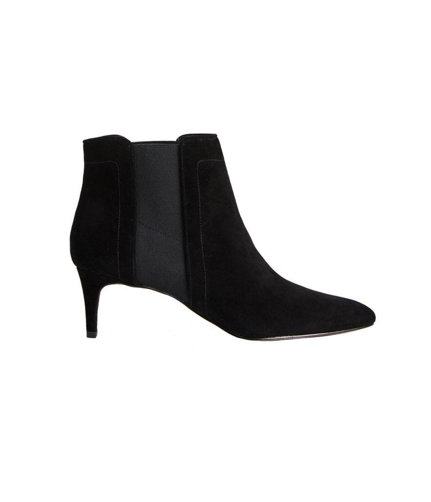 """<p>These wear-with-everything booties have comfy padded footbeds — your feet will thank you! <br><a href=""""https://fave.co/2quoGo3"""" rel=""""nofollow noopener"""" target=""""_blank"""" data-ylk=""""slk:Shop it:"""" class=""""link rapid-noclick-resp"""">Shop it:</a> Olena Suede Kitten Heel Booties, $228, <a href=""""https://fave.co/2quoGo3"""" rel=""""nofollow noopener"""" target=""""_blank"""" data-ylk=""""slk:anntaylor.com"""" class=""""link rapid-noclick-resp"""">anntaylor.com</a> </p>"""