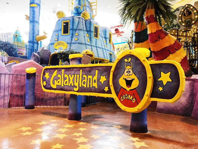 A sign at the entrance to West Edmonton Mall's Galaxyland amusement park. (Photo: Twitter/@official_wem)