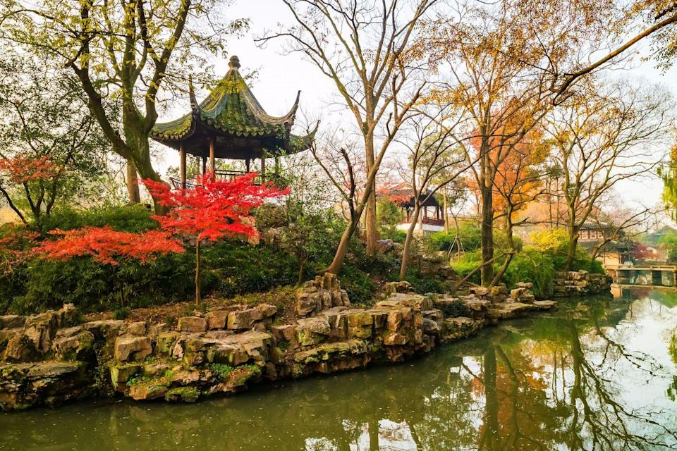 <p>Originally built in 1509 during the Ming Dynasty, the Humble Administrator's Garden started as a private garden for the Imperial Envoy and poet Wang Xianchen. The legend goes that Wang longed to retire from the stresses of official life, and the garden served as the perfect place for him to create a new quiet life. </p><p>Built upon the ruins of the Dahong Temple, the expansive landscape contains 48 different buildings with 101 tablets, 40 steles, 21 precious old trees, and over 700 Suzhou-style penjing. Not only is it considered by many Chinese horticulturists as one of the finest gardens in all of southern China, the verdant escape was also named a UNESCO World Heritage Site. <br></p>